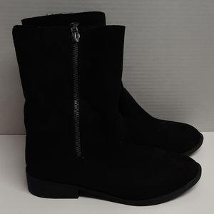 Maurices Black Zipper Boots